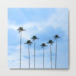 Palm Tree Photography | Classic Blue | Landscape | Miami | Tropical | Florida Sunrise | Beach | Ocen Metal Print
