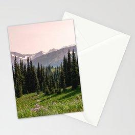 Mount Rainier Summer Adventure X - Pacific Northwest Mountain Landscape Stationery Cards
