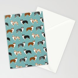 Australian Shepherd owners dog breed cute herding dogs aussie dogs animal pet portrait hearts Stationery Cards