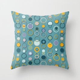 Geo Rings Throw Pillow