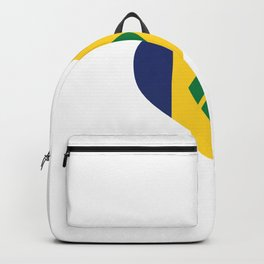Saint Vincent and the Grenadines  love flag heart designs  Backpack