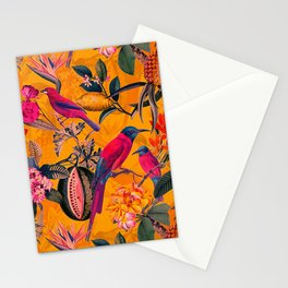 Vintage And Shabby Chic - Colorful Summer Botanical Jungle Garden Stationery Cards