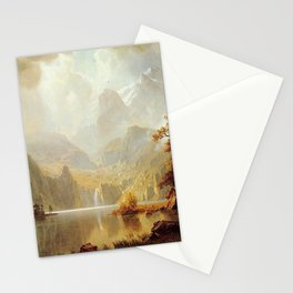In The Mountains 1867 By Albert Bierstadt | Reproduction Painting Stationery Cards