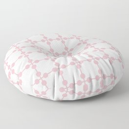 Droplets Pattern - White & Dusky Pink Floor Pillow