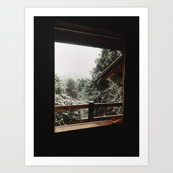 Snow from the house, Bariloche Art Print