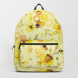 Busy Bees  Yellow Pattern Backpack