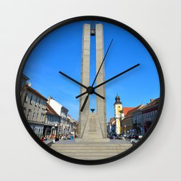 Cluj Memorandum Monument Wall Clock