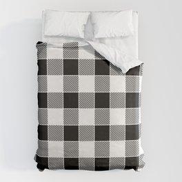 Buffalo Check - black / white Duvet Cover