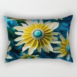 Yellow blue flower Rectangular Pillow