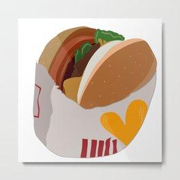 Burger Life Metal Print
