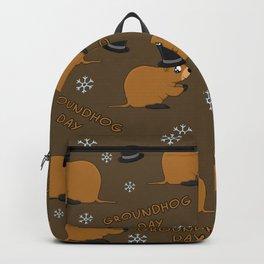 Groundhog day pattern Backpack