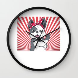 Your girlfriend is fond of French Bulldogs and likes rocking music? Then give her this cute Wall Clock