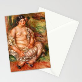 Pierre-Auguste Renoir - Seated Odalisque - Digital Remastered Edition Stationery Cards