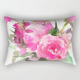 soft pink peonies Rectangular Pillow