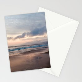 Cloudy Santa Monica Beach Stationery Cards