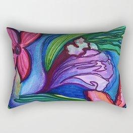 """""""Summer Bloom"""" Floral Rectangular Pillow"""