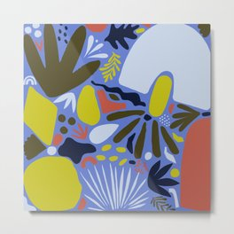 Matisse Inspired Abstract Cut Outs no.02 Metal Print