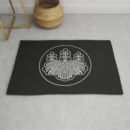 Toyotomi Clan · White Mon · Outlined Rug