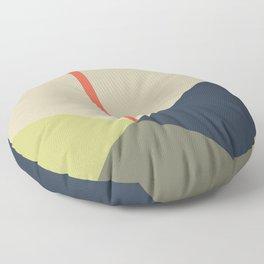 bandana || camou & coral Floor Pillow