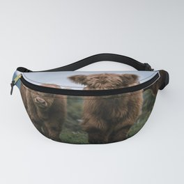 Scottish Highland Cattle Calves - Babies playing II Fanny Pack