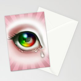 Rainbow Eye - Cry for Me Stationery Cards