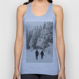 Memories of winter up the cold Taunus mountain in Germany  Unisex Tank Top