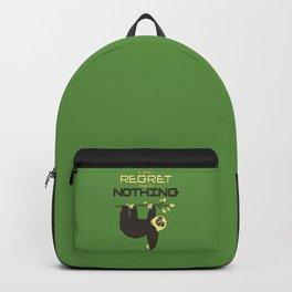 I Don't Regret Doing Nothing Lazy Sloth Backpack