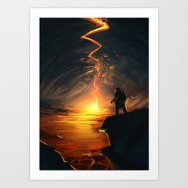 Lava Pit Art Print