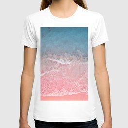 Bahamas pink blue T-shirt