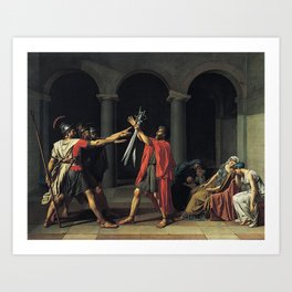 Jacques-Louis David - Oath of the Horatii Art Print