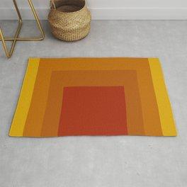Block Colors - Yellow Orange Red Rug