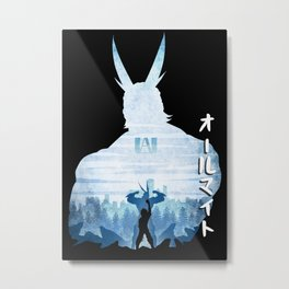 Minimalist Silhouette All Might Metal Print