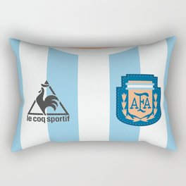 World Cup, National Teams Vintage Football jersey, retro soccer shirt, Argentina, Albiceleste, Diego Armando Maradona Rectangular Pillow