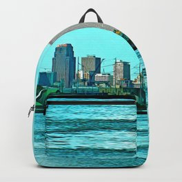 New Orleans Skyline (video game graphic style) Backpack