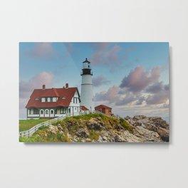 Portland Head Lighthouse at Dusk Metal Print
