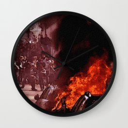 FRENCH LABOUR RIOTS - 25 Wall Clock