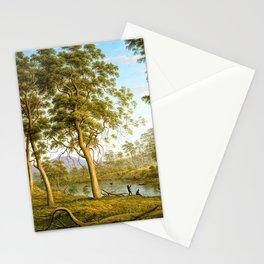 Natives On The Ouse River, Van Diemen's Land - John Glover Stationery Cards