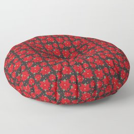Poinsettia Floor Pillow
