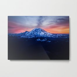 Mountains and Sunsets Metal Print