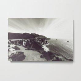 Bixby Bridge Black & White (Big Sur) Metal Print
