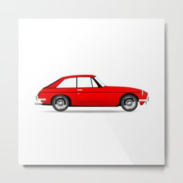 Sports Car Coupe Metal Print