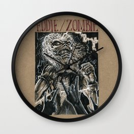 Eddie the Head / Iron Maiden (DRAWLLOWEEN 8/31) Wall Clock