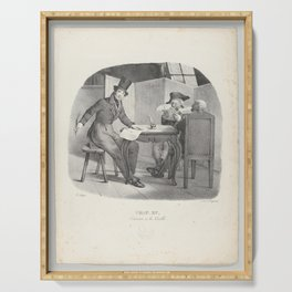 Chap. XV Ecrivons à la Vielle (Writings for the elderly),1824 Serving Tray