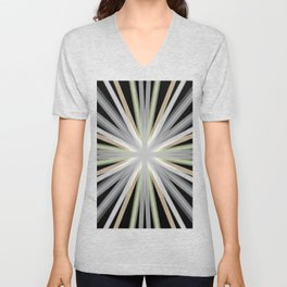 Abstract Sun Burst Rays Unisex V-Neck