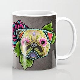 Pug in Fawn - Day of the Dead Sugar Skull Dog Coffee Mug