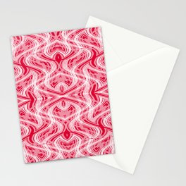 Glitchy Peppermint Holiday Pattern Stationery Cards
