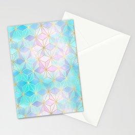 Iridescent Glass Geometric Pattern Stationery Cards