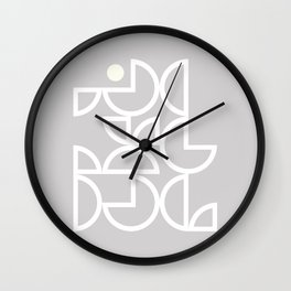 Abstraction Shapes 6 in Grey (Geometric Abstract Patterns) Wall Clock