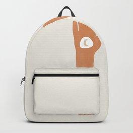 Boho Hands in Rust Orange Backpack