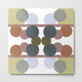 Bubbles, neutral colors Metal Print